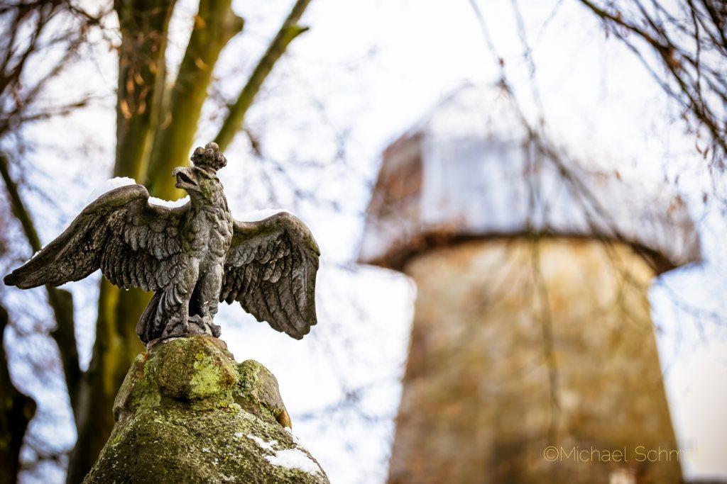 Levedags Mühle mit Ehrenmal