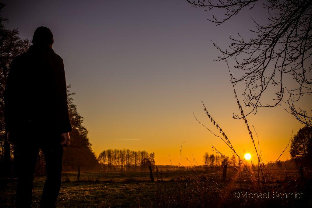 Sonnenuntergang im Recker Moor